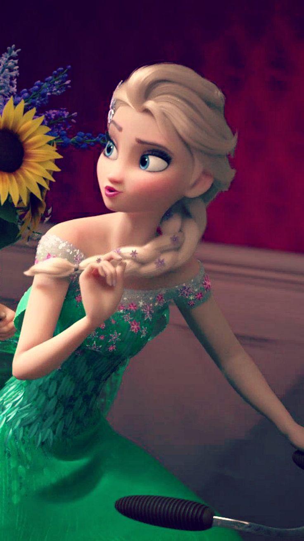 Photo of Frozen Fever Elsa Phone Wallpaper for fans of Frozen. Frozen Fever (2015)
