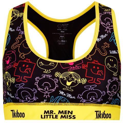Tikiboo Mr. Men Little Miss Sports Bra Black £24.99