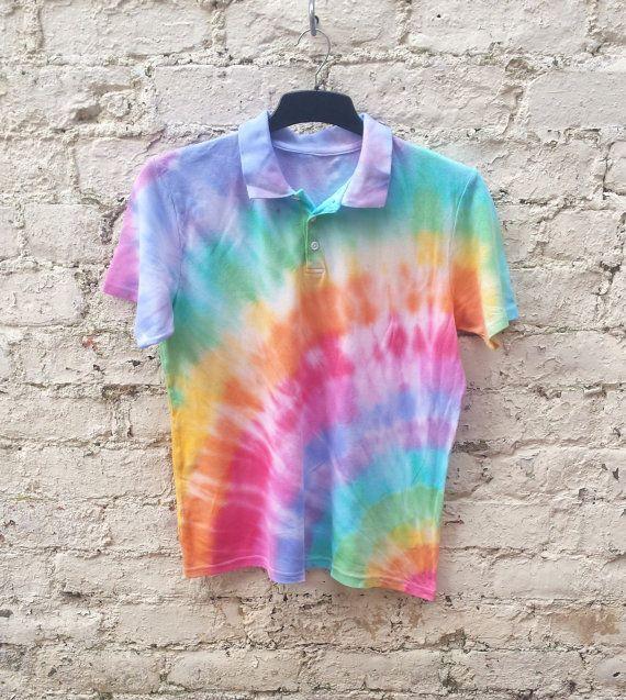 Rainbow Tie Dye Hippie Shirt Festival T-shirt Unisex by AbiDashery