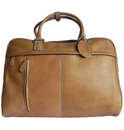 Men's/Women's Cortez Tan Leather Holdall/Travel Bag