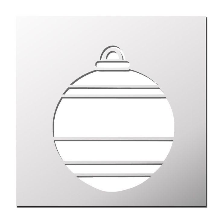Pochoir Boule de Noël