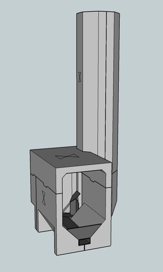 Cast sidewinder batch box rocket core