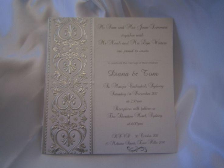 """Amore"" wedding invitation https://www.facebook.com/LuPerlaInvitations"