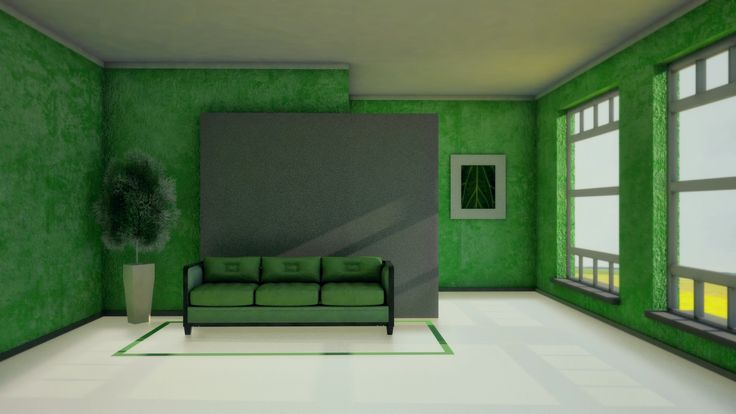 Green Interior https://www.facebook.com/AdrianYaromin http://adrianyaromin.wix.com/digitalartist#!3d-modeling/c1ruc
