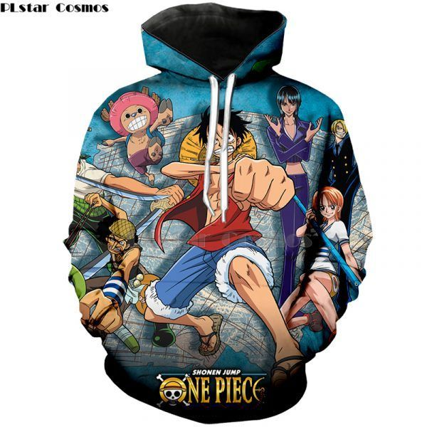 Japan Anime One Piece Hoodies shirt 3D Print Pullover
