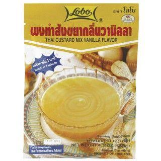 Thaise Vanillepudding #Lobo #Thaise Vanillepudding is een kant-en-klare mix voor een geliefd Thais dessert met een aromatische vanillesmaak. Meng de desertmix met water, even laten koken en in de vormpjes laten afkoelen. Gebruik de heerlijk crème als vulling voor cakes, in vruchtensalades en als lekkere dip voor patongo (Thaise donut). https://www.asianfoodlovers.nl/producten/desserts/thaise-vanillepudding-120-gram