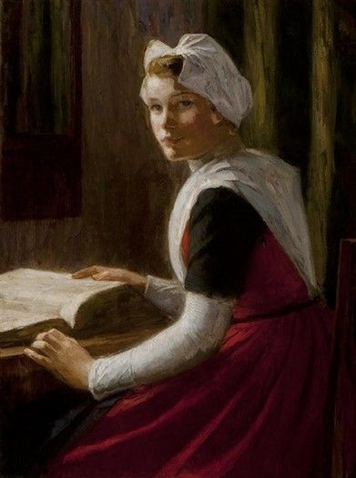 Nicolaas van der Waay - Orphan girl from Amsterdam with a bible #wezen #Amsterdam
