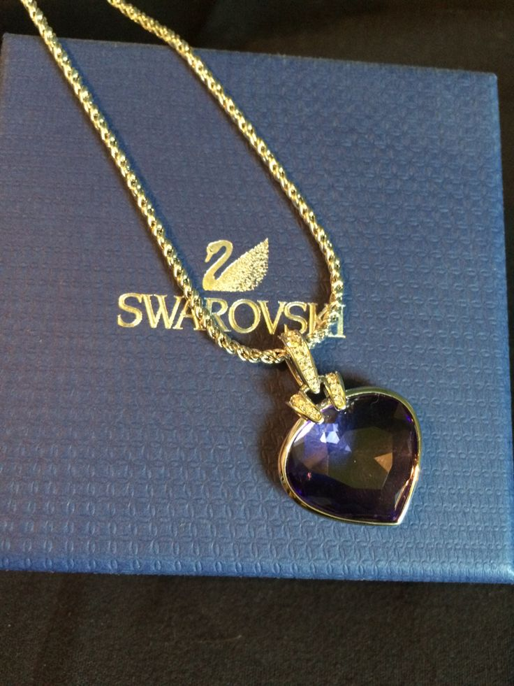 Swarovski blue heart & silver necklace. Anniversary gift ❤️