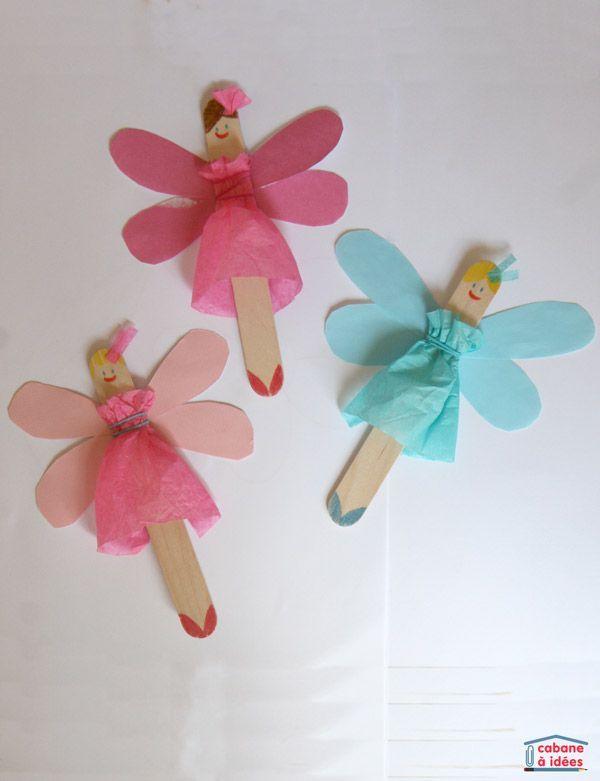Des fées à partir de bâtonnets de bois Si vous avez des garçons, fabriquez des…