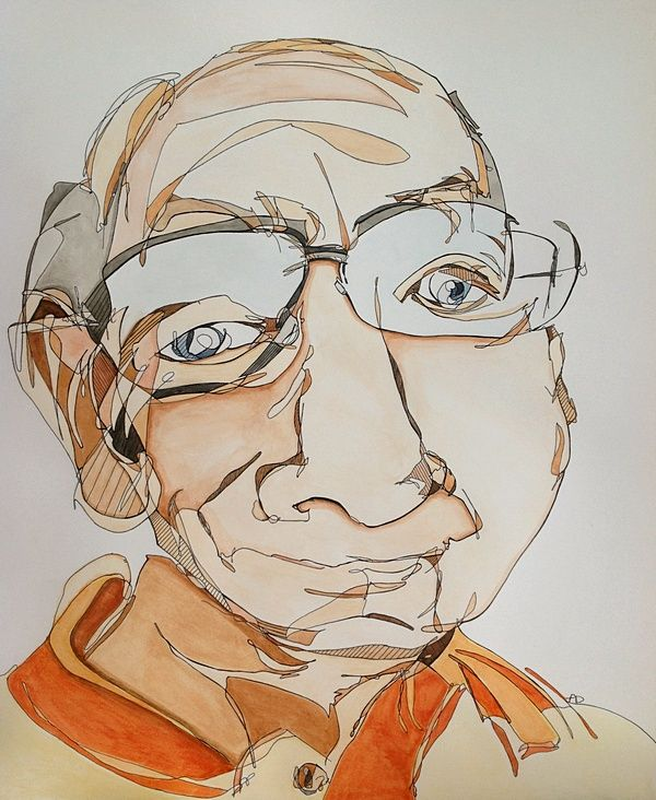 Blind Contour Line Drawing Self Portrait : Best contour drawings ideas on pinterest blind