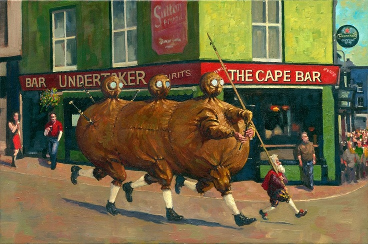 """$120 (Subject to exchange rates) """"The Full of the Bag"""". http://www.thecopperhousegallery.com/artists/55-Kevin-McSherry/works/163/#"""