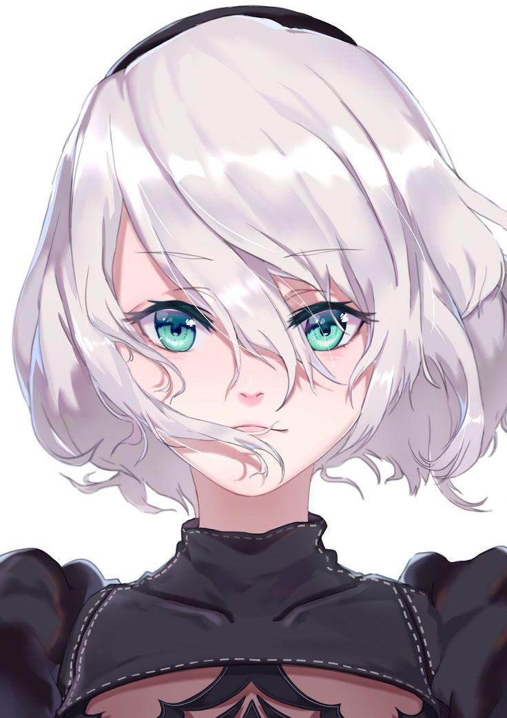 Anime girl eyes thank for