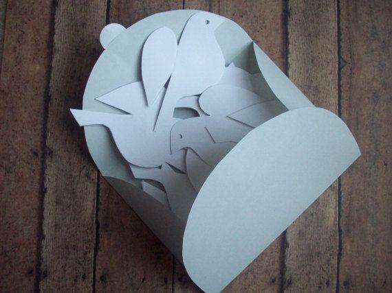 Papel de aves Bird Beckydoce pájaros de papel blanco