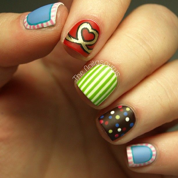 Cute Nail Art Designs Games For Girls: 194 Best Images About Nail Art For Short Nails On Pinterest