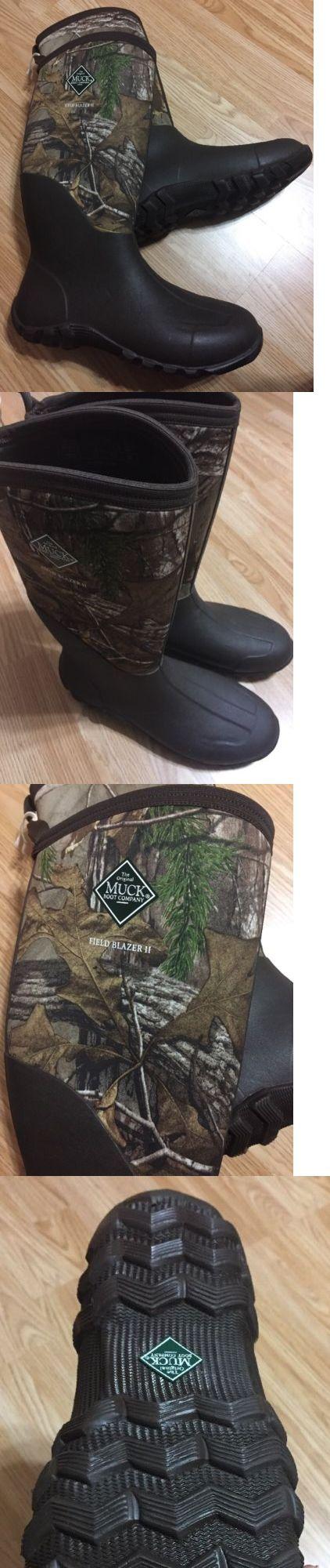 Hunting Footwear 153008: Muck Boots Field Blazer Mossy Oak Break-Up~ Hunting~ Mens 12/ Womens 13 -> BUY IT NOW ONLY: $72.9 on eBay!
