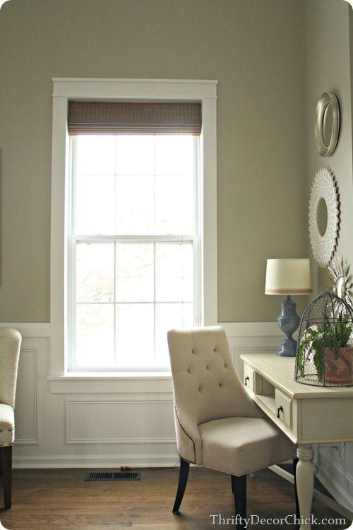 Adding chunky #Craftsman window trim! #tutorial #DIY