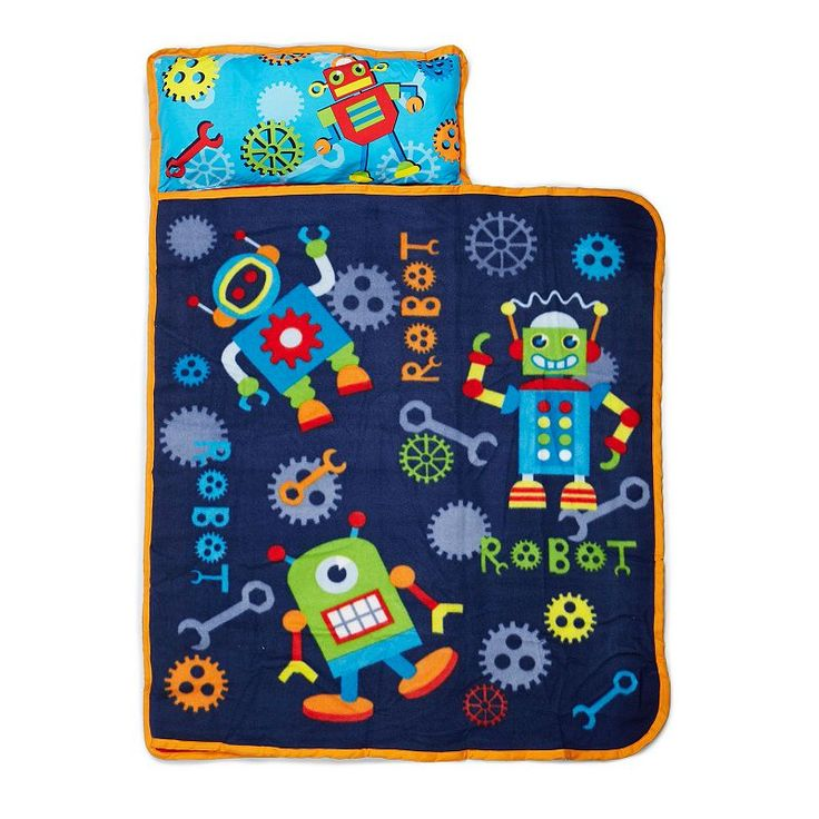 Baby Boom Robots In Action Toddler Nap Mat, Blue