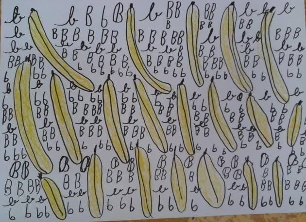 b - banány
