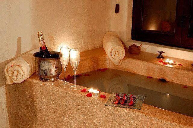 how to prepare a romantic bubble bath