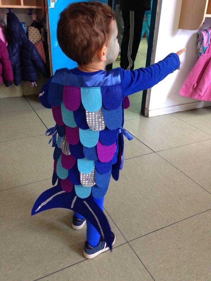 Disfraz de pez arco iris