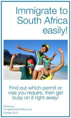Immigrate to South Africa easily by ImmigrationSouthAfrica.org. $65.00. 38 pages. Immigration to South Africa is a difficult process, and our experts make it easy with this self-preparatory immigration guide.South Africa is a wonderful destination for all types of immigration, and you can find out exactly how to relocate properly and quickly in this guide.                            Show more                               Show less