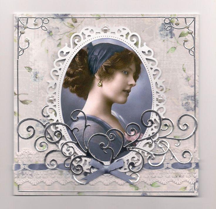 Indigo Lady wiv Silver - Scrapbook.com