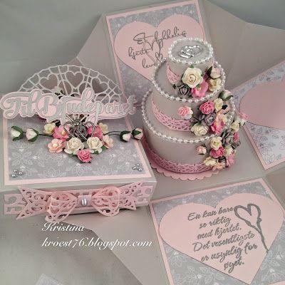 Kristinas kortblogg: Bryllupsboks med rund kake