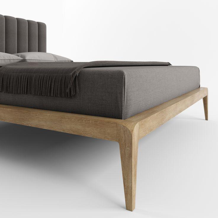 Кровать LA VELLA от HBMart - массив дуба с покрытием из льняного масла и пчелиного воска
