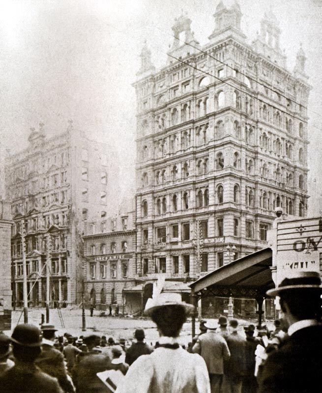 Flinders Street Fire, corner Elizabeth. May 1921