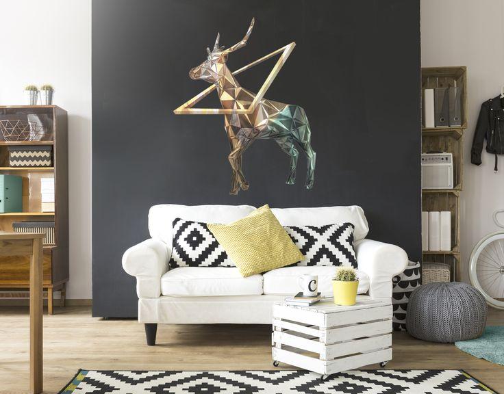 """Wandtattoo ♥♥ Wandsticker ♥♥ Wandaufkleber ♥♥ Wandtattoo Hirsch """"Oh Dear Deer..."""" wird sicherlich für Naturfeeling im eigenen Zuhause sorgen."""