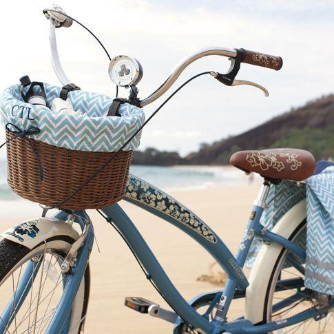 Natural Bike Basket + Liner | PBteen