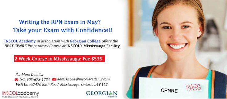 Take your #CPNRE with Confidence! INSCOL Academy and Georgian College offer's #CPNREPrepCourse at it's Mississauga Facility. Ensure a High Success Rate with Georgian College's; Experienced Faculty; FREE Access to 5000+ Online Practice Questions from INSCOL; Additional Support during Weekends (If Required);FREE CPNRE Review Textbook & Convenient Evening Timings For more information: Call: +1-905-673-1234 Email: admissions@inscolacademy.com   #NursingEducation #CPNREPrepCrouse #NursingCourses