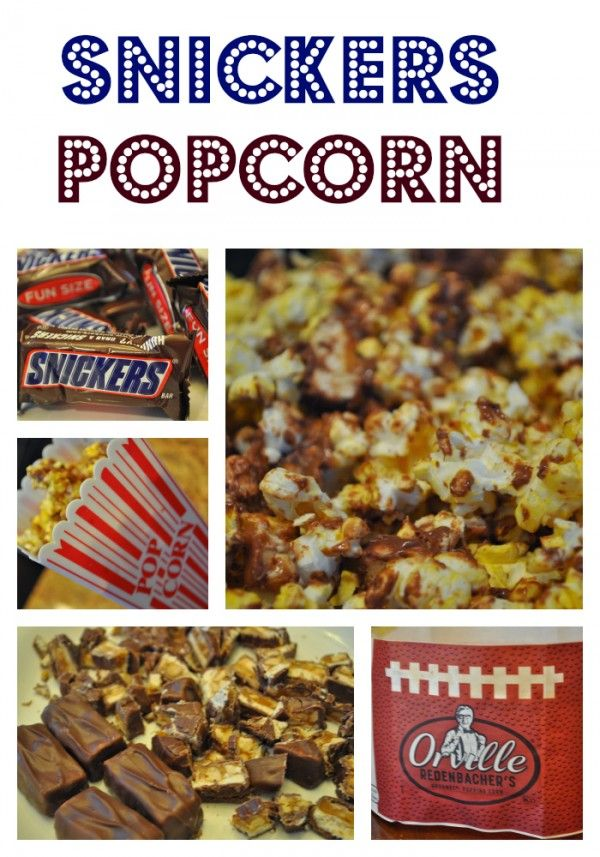 Easy How to Make Snickers Popcorn Recipe with Step by Step directions #glutenfree