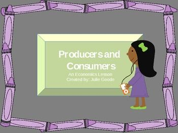 Interactive Producers and Consumers Economics Lesson Powerpoint