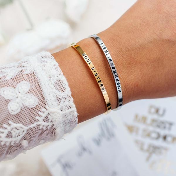 Armband mit gravur freundin
