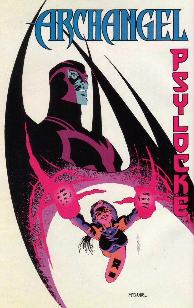 X-Men: Unlimited Vol.1 #6 p. 58 - Psylocke and Archangel by Scott McDaniel *