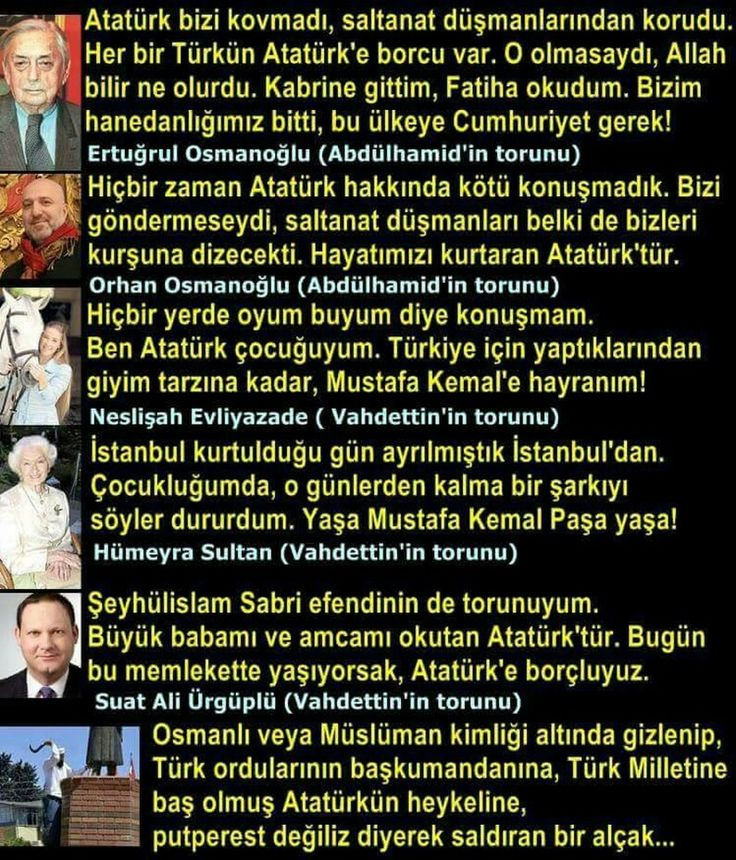 Osmanlı hanedanı nın torunları Atatürk için ne diyor..