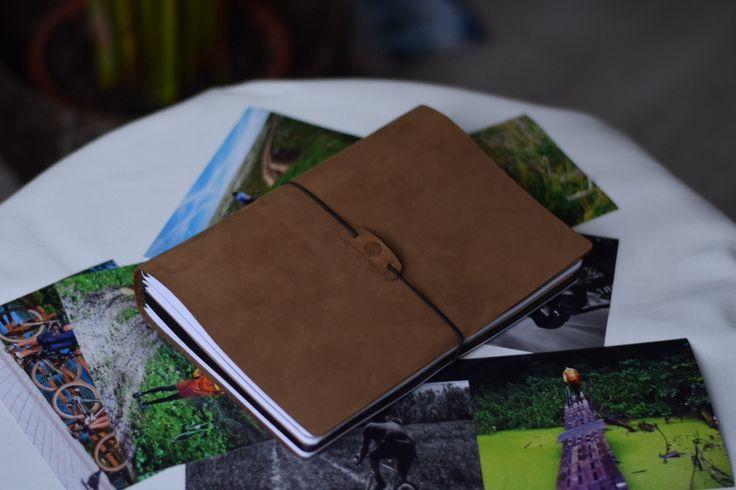 Кожаный блокнот со сменными блоками Traveler`s Notebook А5 на 4 тетради
