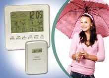 Időjárás-állomás előrejelző funkcióval, ébresztővel, hő- és páratartalom-mérővel, holdfáziskijelzéssel