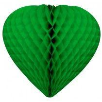 cœur festonné vert émeraude