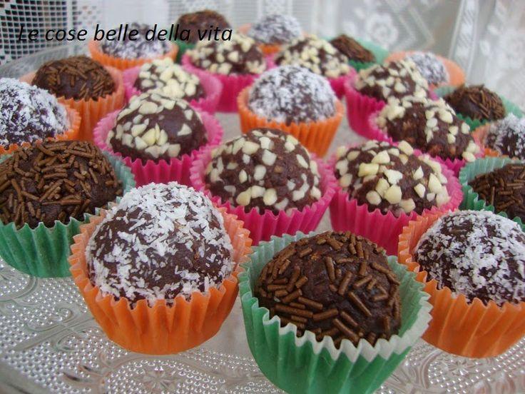 Le Cose Belle della Vita: Tartufini panna e cacao senza cottura
