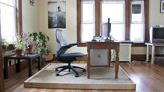 Home Office Sandbox: Offices Work, Offices Sandbox, At Home, Living Rooms, Beaches Boys, Home Offices Design, Sands Boxes, Diy Sandbox, Design Home