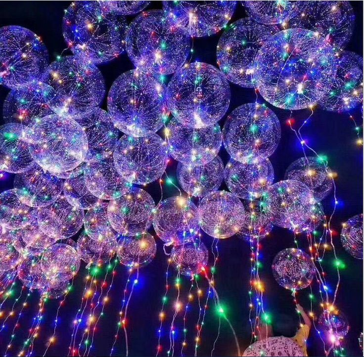 China Wholesale Colorful Led String Gift Toys Use Christmas Party Decoration Round Clear Transparent Shape New Led Bobo Balloon