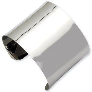 Stainless Steel Polished Cuff Bangle Jewelry Adviser Bangle Bracelets. $44.50
