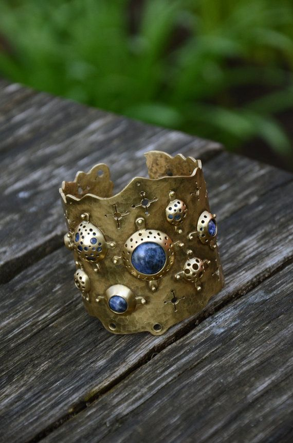 Handmade metalwork cuff