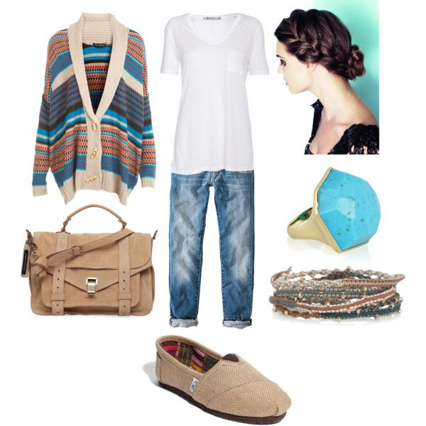 Creating ideas for my burlap TOMS. Can't go wrong with boyfriend jeans and a white tee!