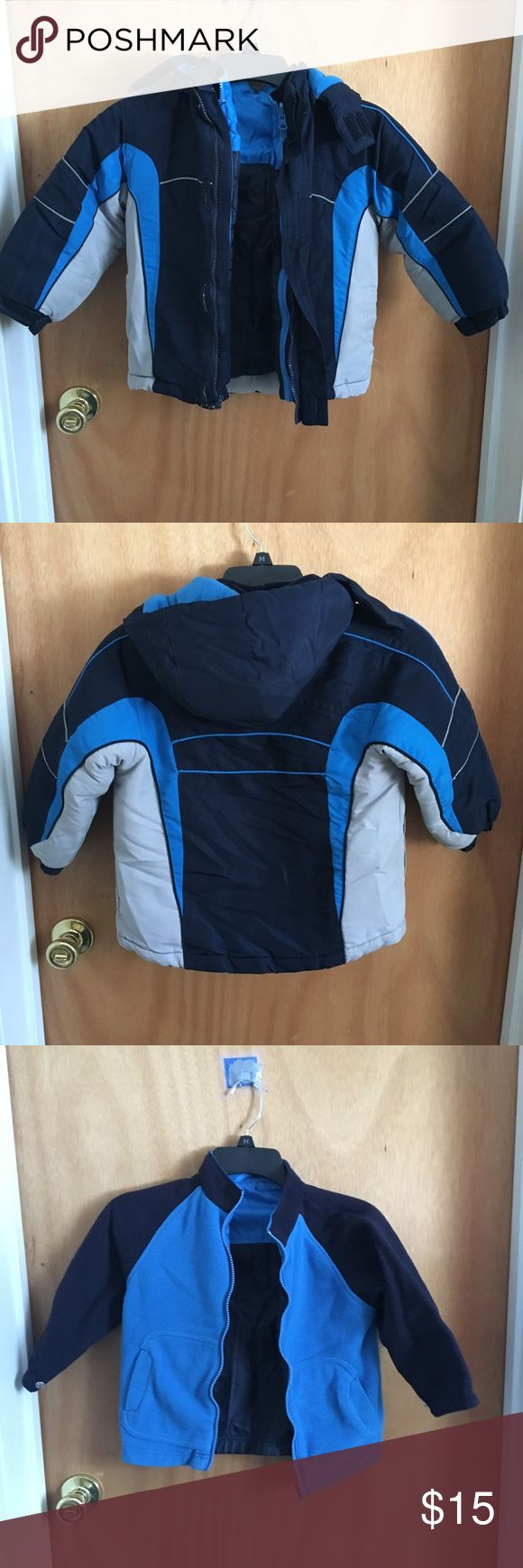 Toddlers layered jacket Waterproof jacket with fleece jacket lining. Worn few times, great condition Faded Glory Jackets & Coats