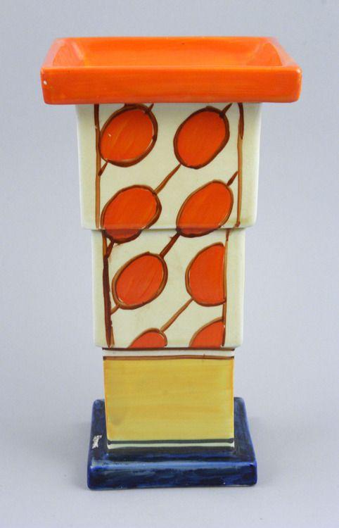 A Clarice Cliff designed art deco vase.