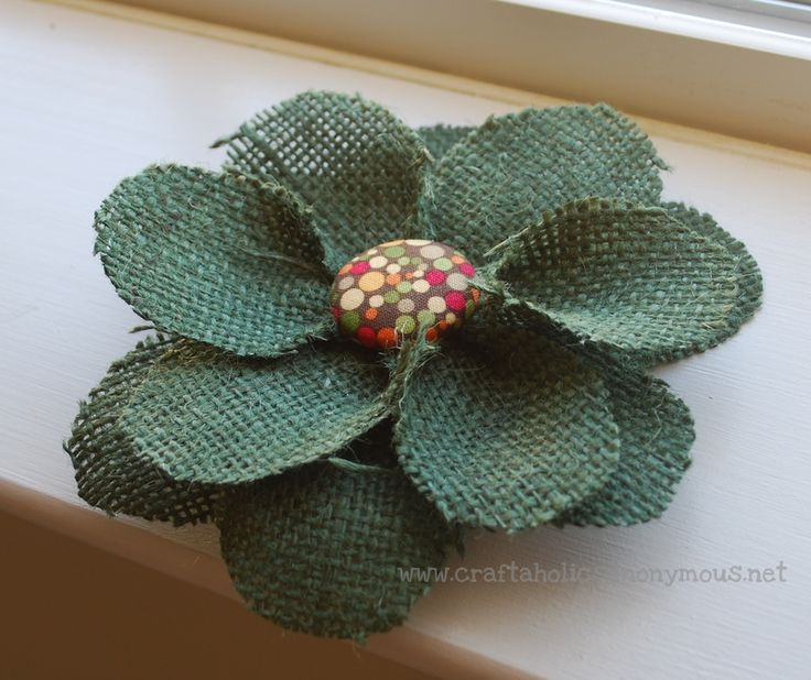 Craftaholics Anonymous | how to make a fall wreath with burlap flowers  -- tutorial