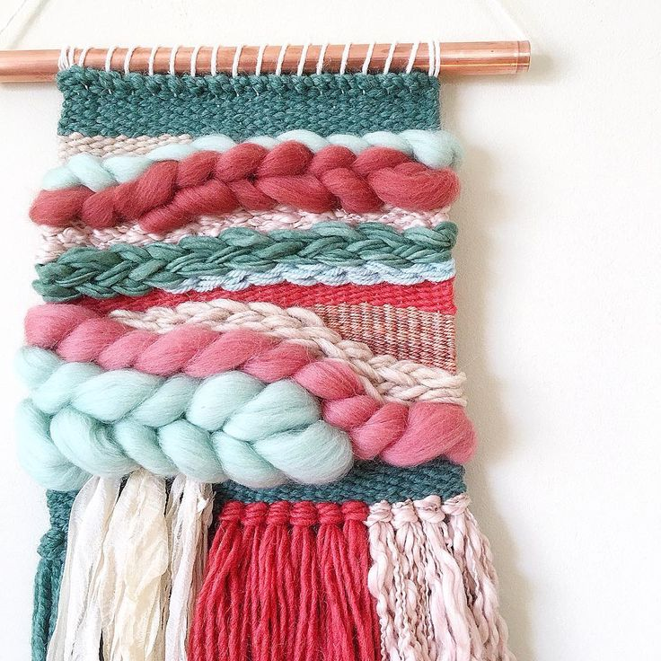 Sarah Harste Weavings: I created this woven wall hanging with the intention of…